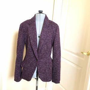 Anthropologie purple blazer